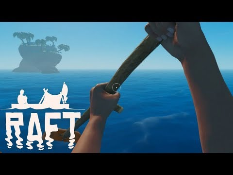 RAFT Full Release Gameplay - Island Exploration with Shark Bait! #3