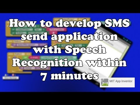 How to develop Android SMS send application with Speech Recognition using mit app inventor 2