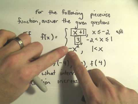Evaluating Piecewise Defined Functions