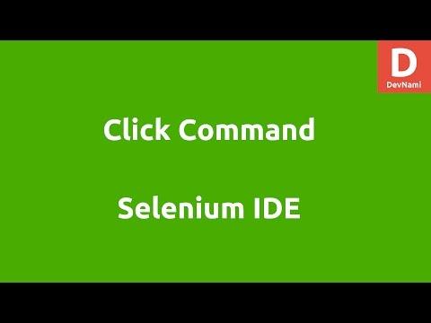 Selenium IDE Click command