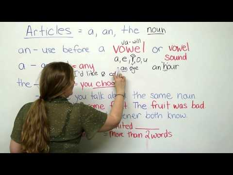 A, AN, THE - Articles in English