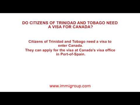 Do citizens of Trinidad and Tobago need a visa for Canada?