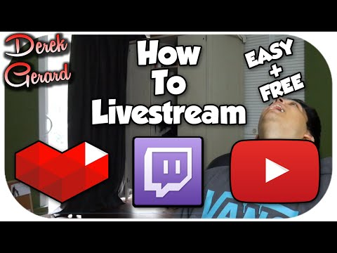 How to Live Stream on Youtube AND Twitch! 2015!