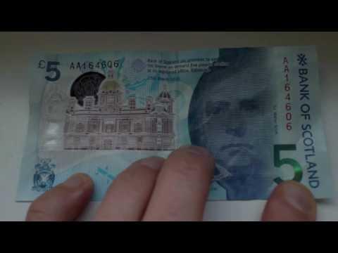 Polymer UK Banknotes & Cool See Through Bits, Bank of Scotland