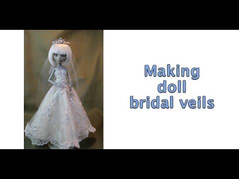 Making doll bridal veils