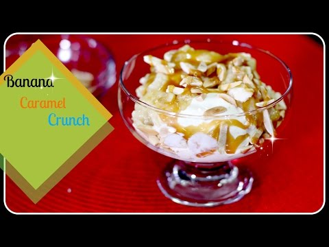 Banana Caramel Crunch - Cold Stone Inspired Frozen Dessert
