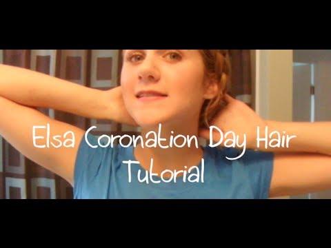 Elsa Coronation Day Hair Tutorial | toriaTV
