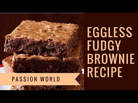 Chocolate Brownie | Eggless Fudgy Brownie Recipe