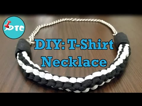 How to Recycle your old T-shirts into a No Sew DIY Necklace
