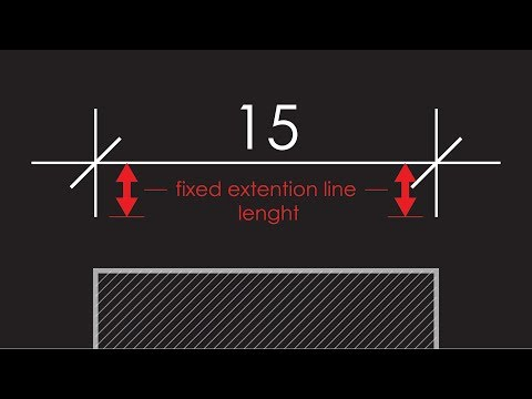 Seting Up the Dimension Style (DIMSTY) in AutoCAD Tutorial