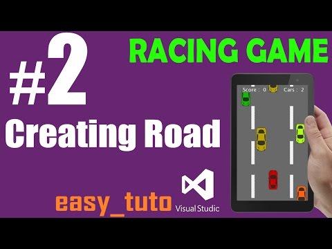 2  Create and Scroll Road| Racing Game | Visual Studio | Beginners Full Tutorial HD