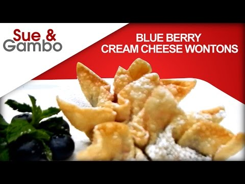 Blueberry Cream Cheese Wonton