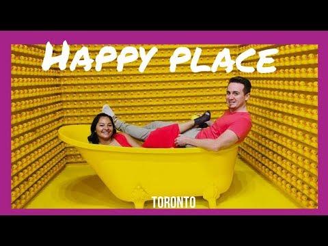 HAPPY PLACE interactive pop up exhibit - Toronto Ontario Canada - REVIEW