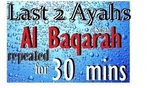 Repeat the Last 2 ayah(s) of Surah Al Baqarah for 30 mins