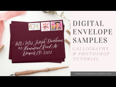 Create Digital Envelope Calligraphy Samples within Photoshop || INTERMEDIATE Video