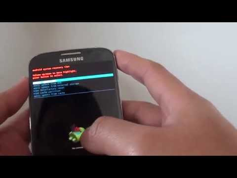 Samsung Galaxy S4: How to Clear and Wipe Cache Partition