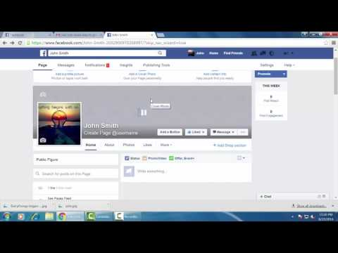 How to add page cover photo in facebook