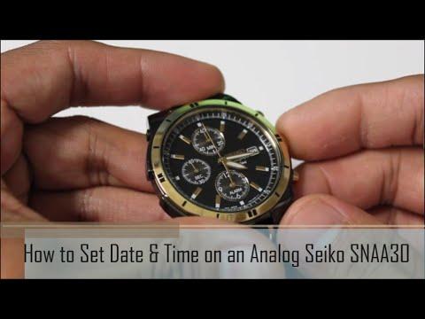 How to Set Date & Time on a Seiko SNAA30 Analog Dress Watch