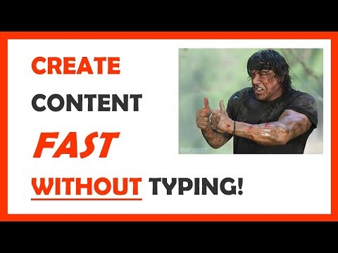 How to Get Content for Your Website FAST Without Typing