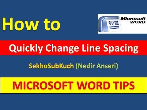How to Quickly Change Line Spacing in Microsoft Word [Urdu / Hindi]