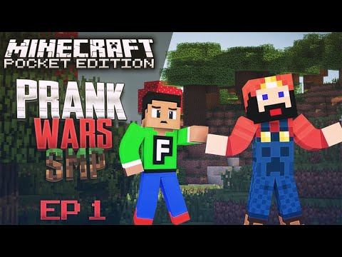 Minecraft PE Realms SMP Realms Prank on FuzionDroid (MCPE 0.15.1 Multiplayer)