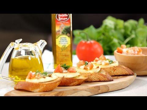 Grilled Halloumi Bruschetta