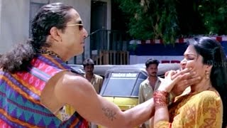 Madhavi Forced By Villain Action Scene || Big Boss Movie