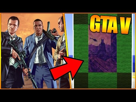 HOW TO MAKE A PORTAL TO THE GTA 5 DIMENSION - MINECRAFT - GTA V Grand Theft Auto