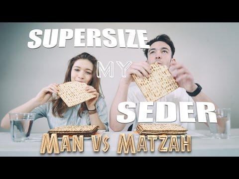 SUPERSIZE MY SEDER - Man vs Matzah Crackers
