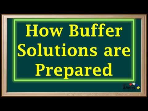 BCLN - Buffer Solutions—Definition and Preparation - Chemistry