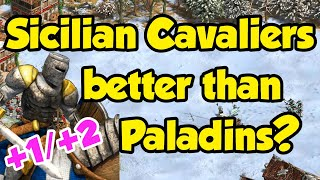 Are Sicilian Cavaliers better than Paladins? [AoE2]