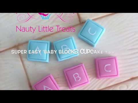 How to make quick and easy 'Baby Blocks' Cupcake Toppers