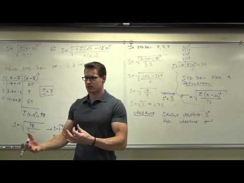 Statistics Lecture 3.3: Finding the Standard Deviation of a Data Set