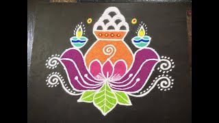 Simple Rangoli Designs With Flowers And Colours Best Menu Template