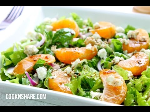 Orange Basil Salad with Honey Balsamic Vinaigrette