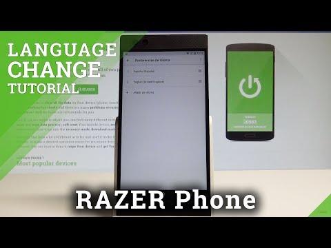 How to Change Language on RAZER Phone - Language Settings  HardReset.Info