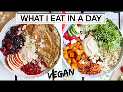 What I Eat In a Day AS A VEGAN + RECIPES!