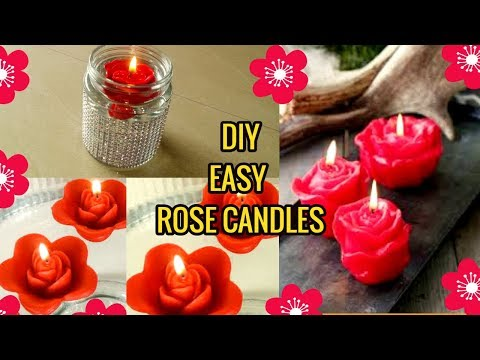 DIY easy floating rose candle