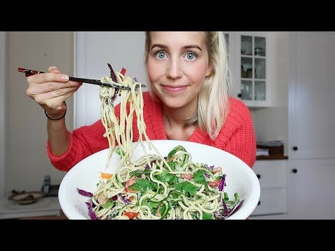 What I Eat In A Day ✧ RAINBOW RAW PAD THAI