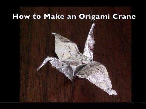 Origami Crane Gum Wrapper