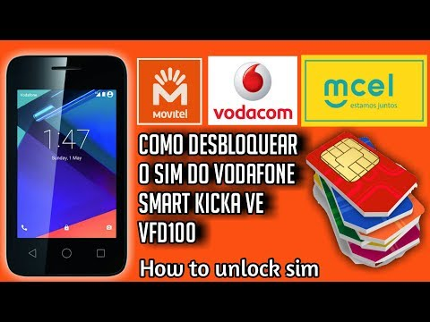 Como desbloquear o SIM do vodacom smart kicka VE VFD100