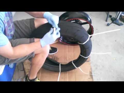 Motorcycle Tire Install on Rim with Zip Ties - 2007 ZX6R - HOW TO / TUTORIAL