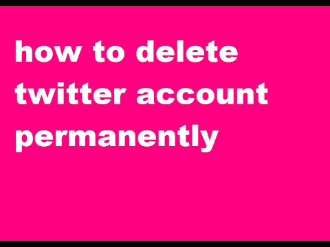 How To Delete Twitter Account Permanently In Telugu
