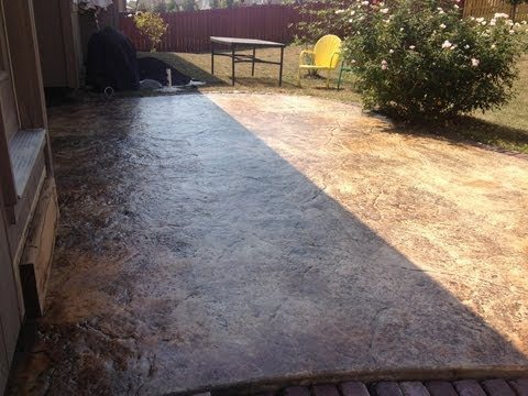 How to Re-Seal a Stained Concrete Patio