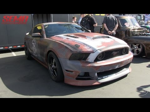 Crazy Rusted Wrap from 13-Three Motorsports on a Mustang at SEMA 2015 - Coverage from Eastwood