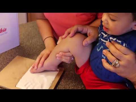 Patty Keikis Baby Hand and Footprint Kit Demo