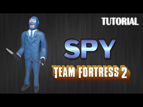 Tutorial Spy en Plastilina / Team Fortress 2 / How to make Spy with Clay