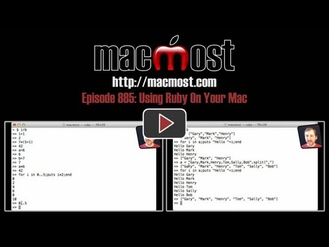 Using Ruby On Your Mac (MacMost Now 885)