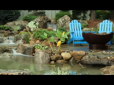 Building a Large Boulder Backyard Pond in Neshanic Station, NJ