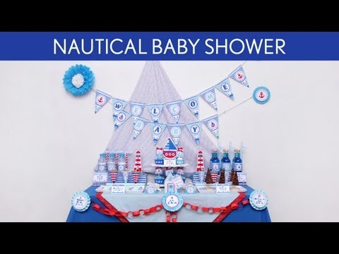 Nautical Baby Shower Party Ideas // Nautical - S5